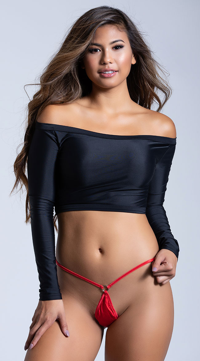 100% Silk Micro G-String with Rings by Magic Silk