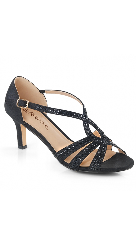 2 1/2 Inch Shimmering Sandal by Pleaser
