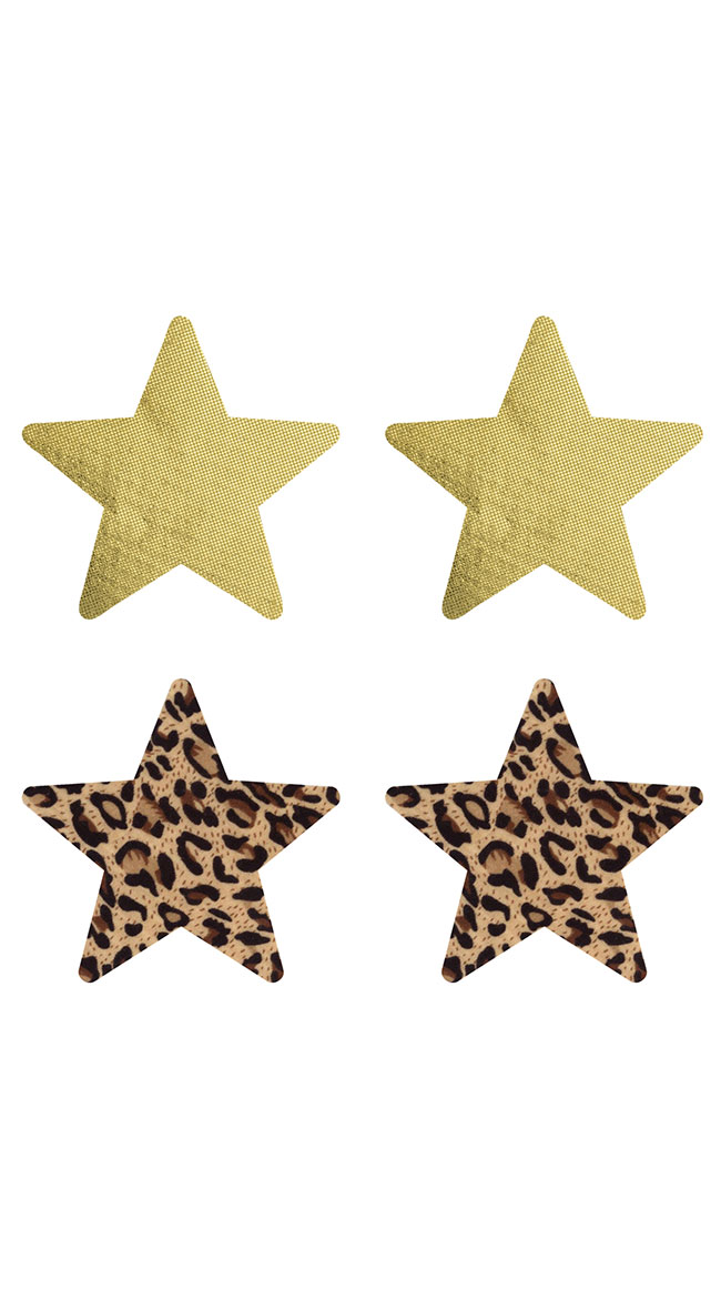 2-Pack Jungle Fever Star Pasties by XGEN Products - sexy lingerie