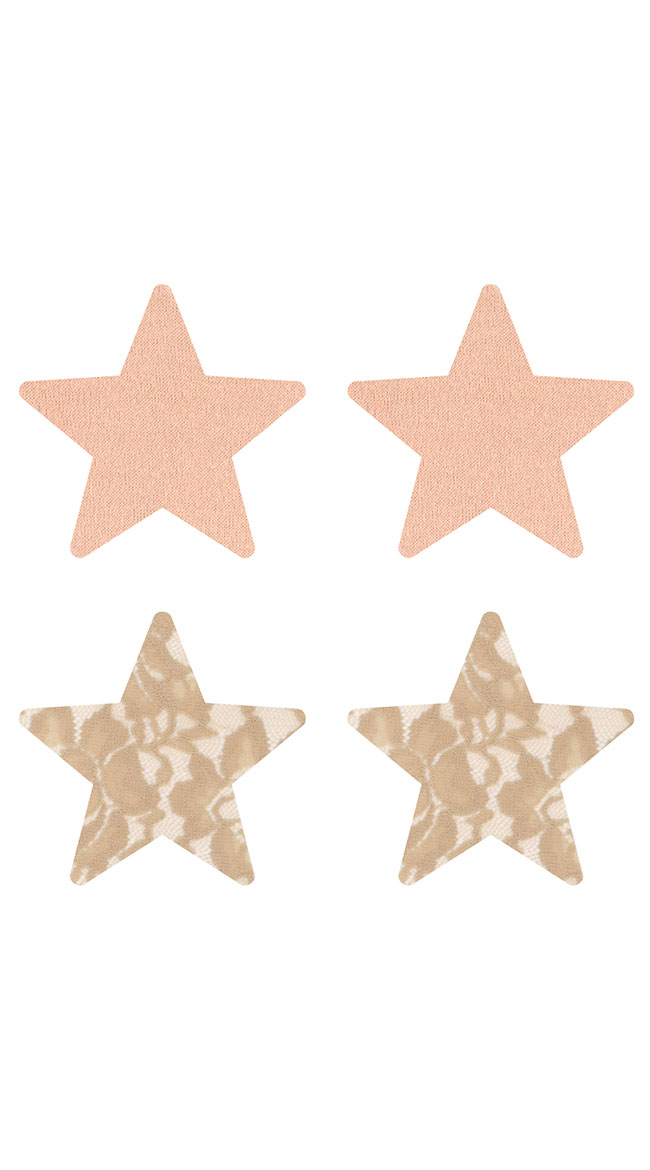 2-Pack Nude Ambition Star Pasties by XGEN Products - sexy lingerie
