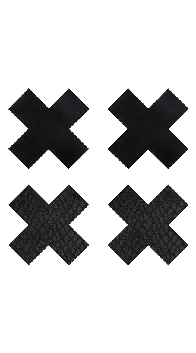 2-Pack Snake Ways X Pasties by XGEN Products - sexy lingerie
