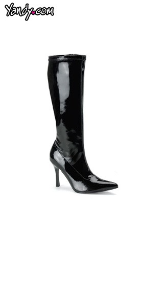 """3 3/4"""" Heel Stretch Knee Boot by Pleaser"""