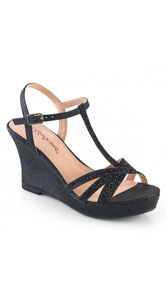 3 Inch Shimmer Wedge Sandal by Pleaser
