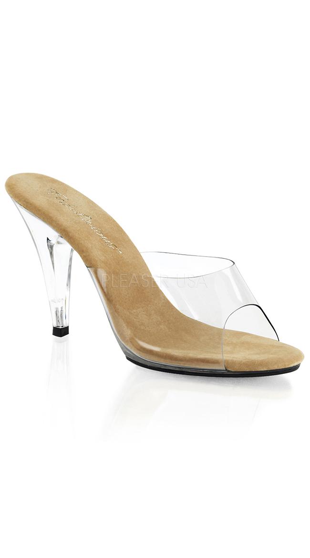 "4"" Clear Stiletto Heel by Pleaser"