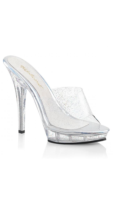 5 Inch Glittering Clear Slide by Pleaser