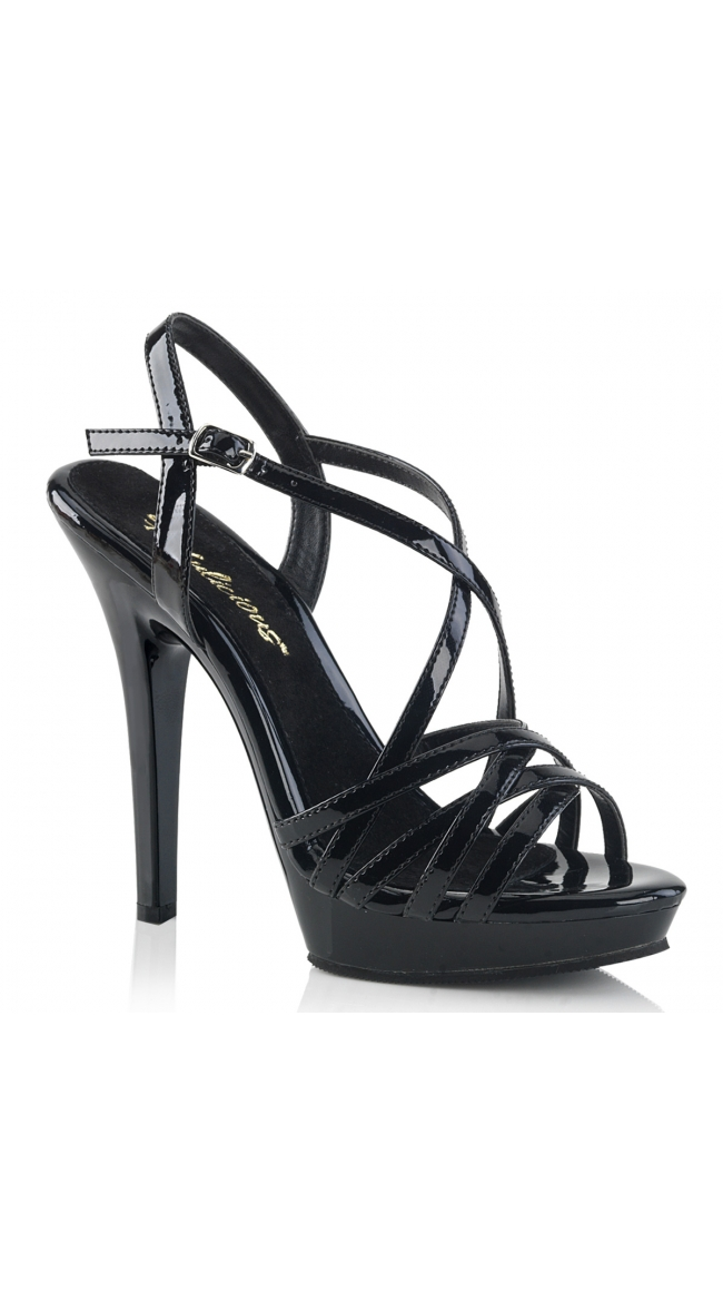 5 Inch Strappy Patent Sandal by Pleaser