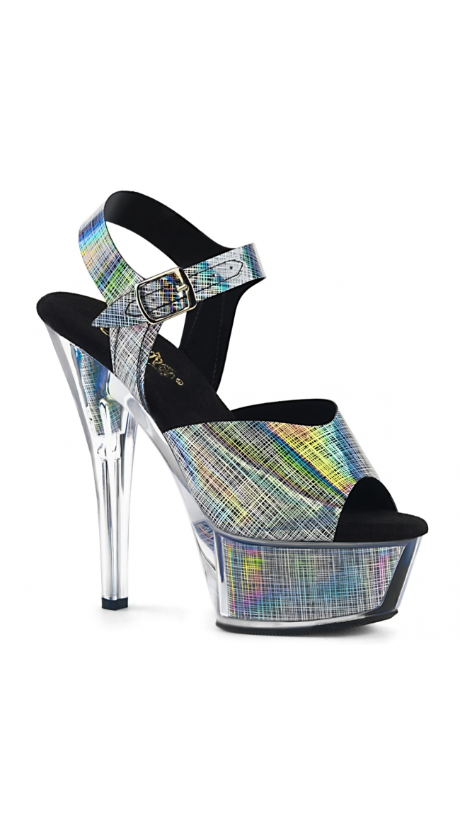 6 Inch Chrome Pattern Sandal by Pleaser