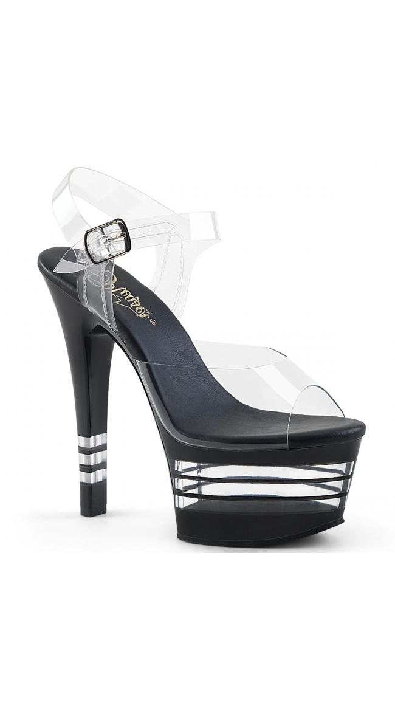 6 Inch Clear Strap Platform Sandal by Pleaser