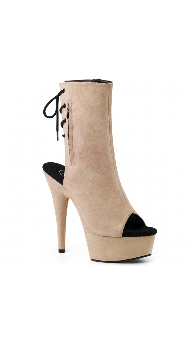 6 Inch Faux Suede Ankle Boot by Pleaser