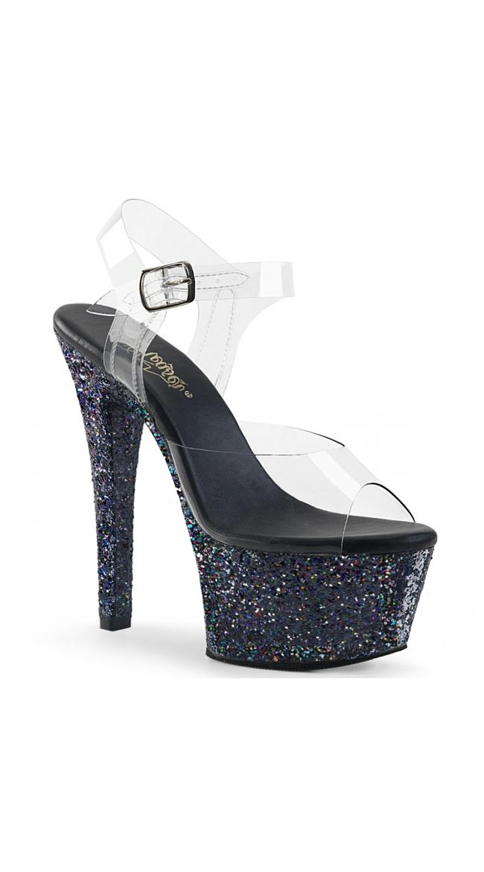 6 Inch Glitter Platform Sandal by Pleaser