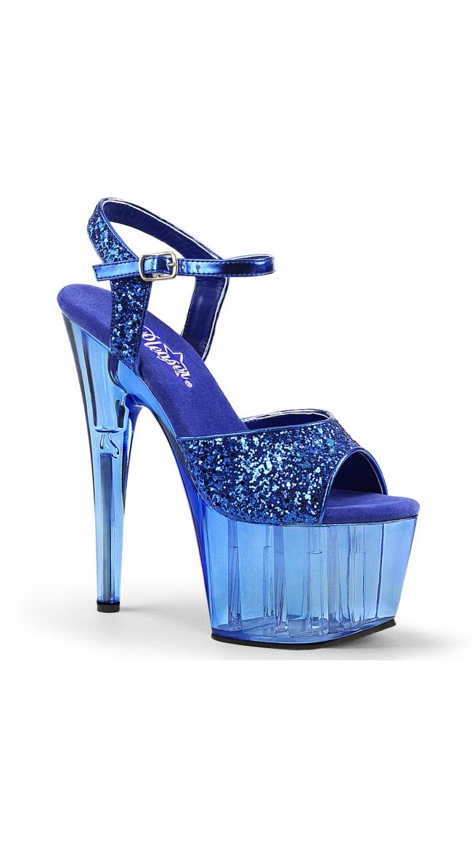 7 Inch Glitter Tint Platform Sandal by Pleaser