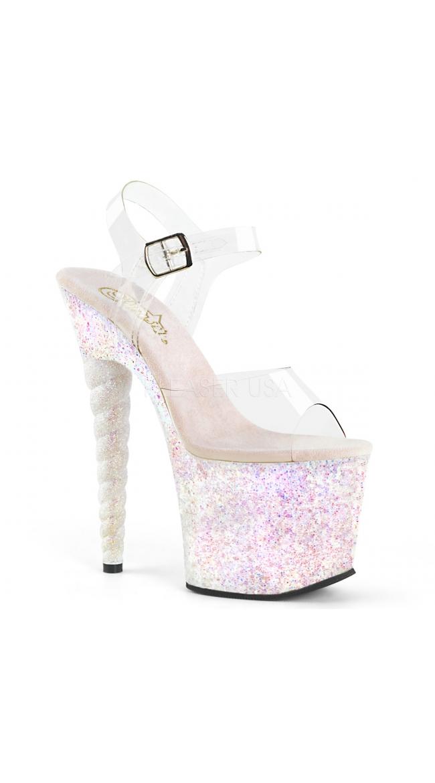 7 Inch Open Toe Ankle Strap Unicorn Heel by Pleaser