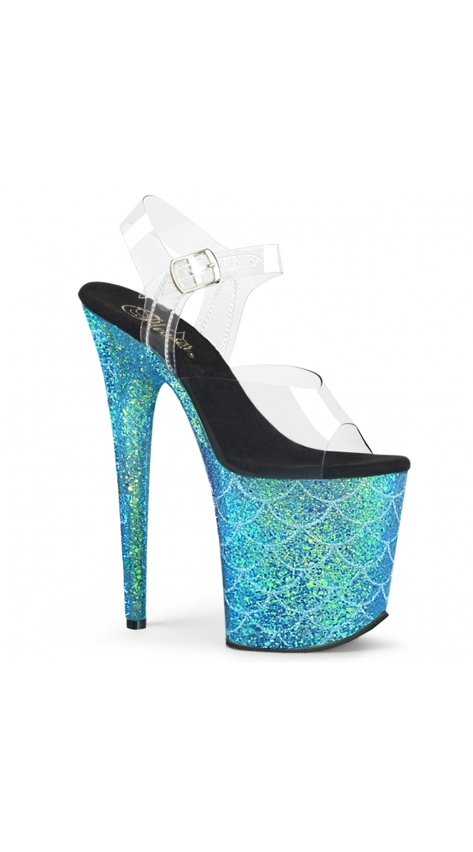8 Inch Glitter Mermaid Sandal by Pleaser
