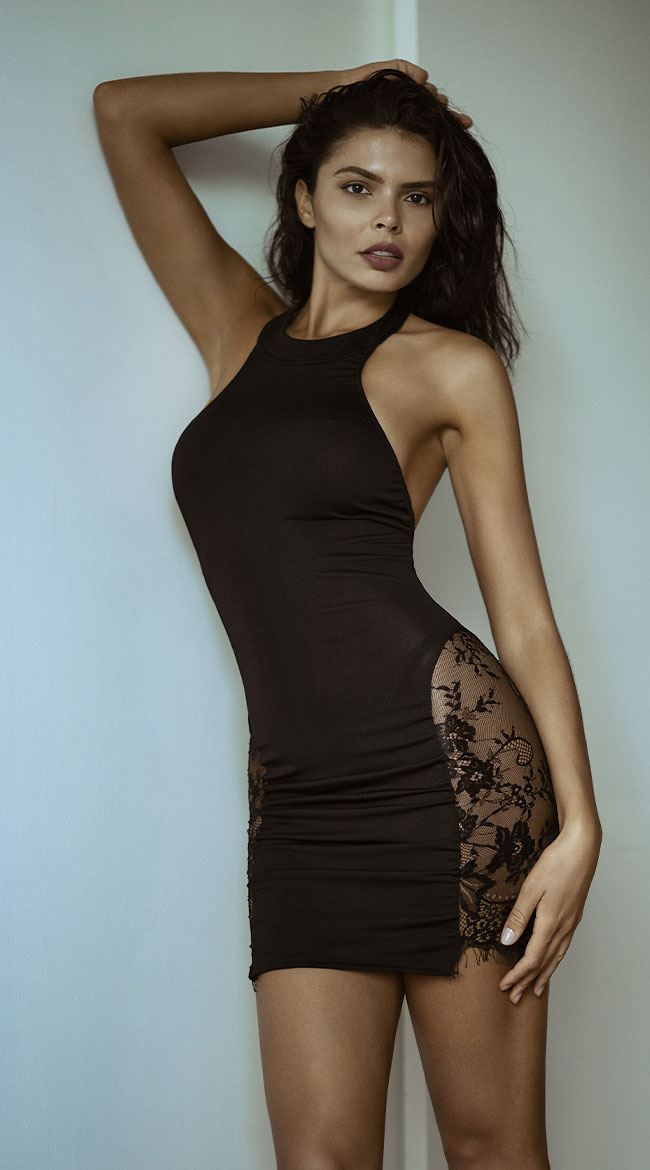 A Touch of Lace Mini Dress by Roma