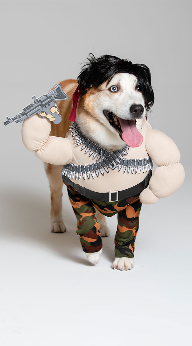 Action Hero Dog Costume by California Costumes