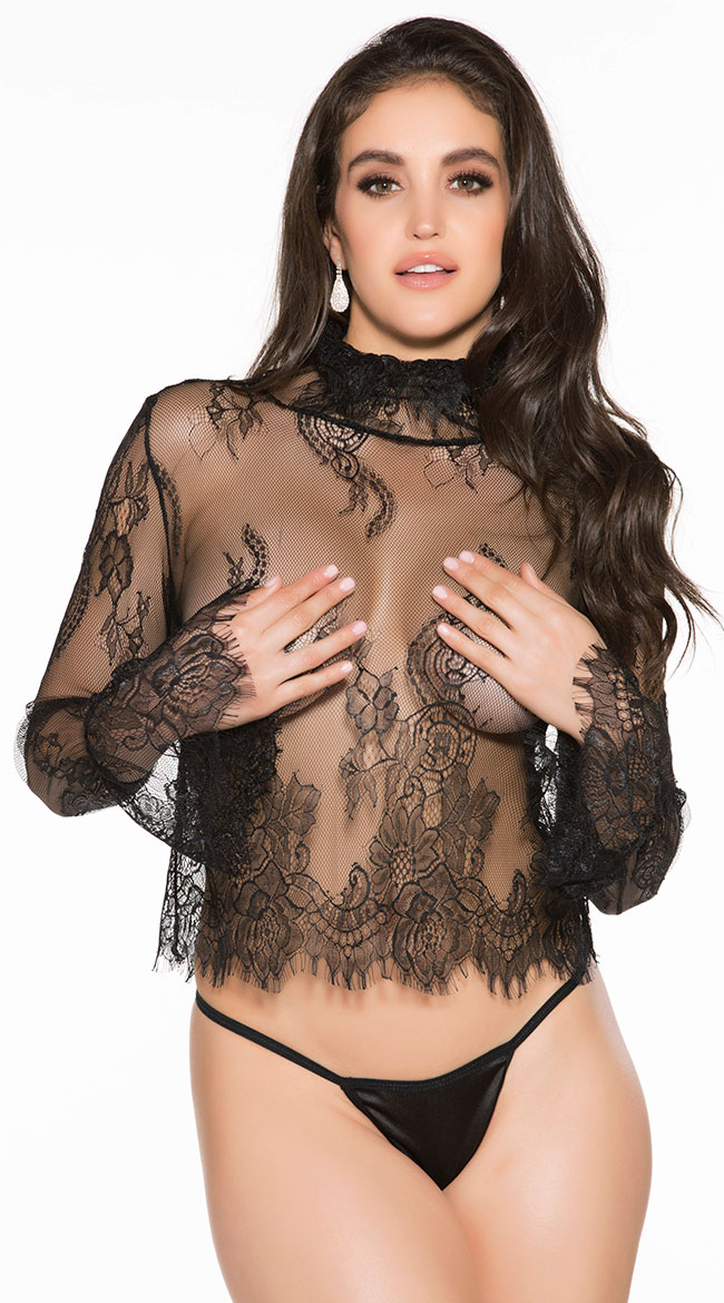 Adore Me Lace Shirt Set by Shirley of Hollywood