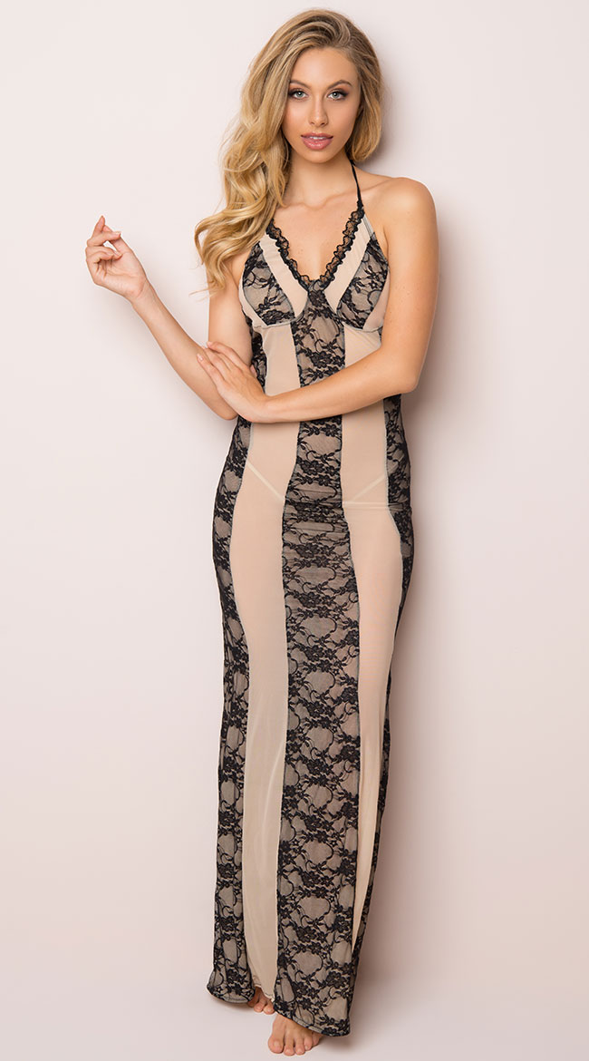 Alluring Lace Lingerie Gown by Roma