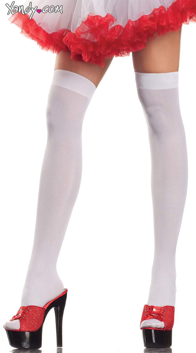 Angelic Thigh High Stockings by Be Wicked