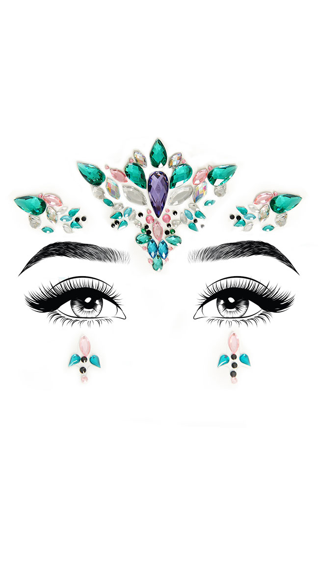 Aria Adhesive Face Jewels by Leg Avenue
