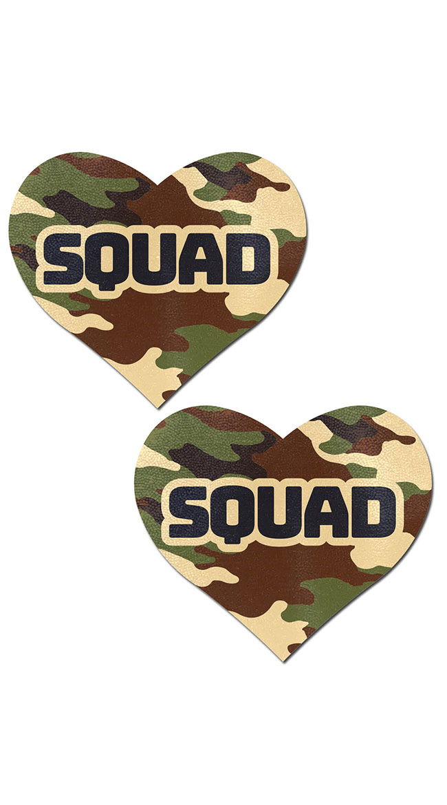 Army Squad Nipple Pasties by Pastease