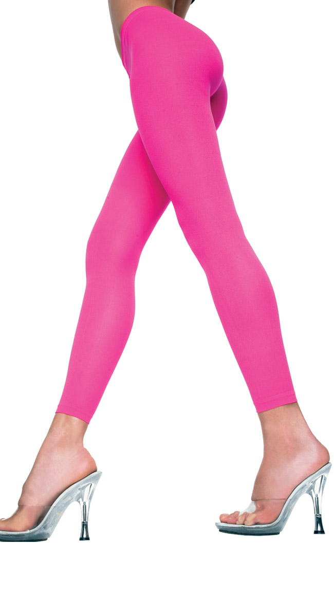 Babe Alert Footless Tights by Music Legs