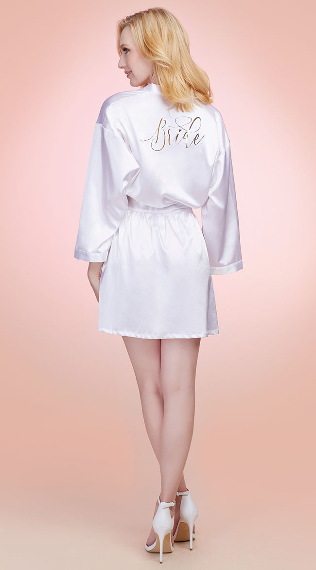 Babe-To-Be Satin Robe by Dreamgirl