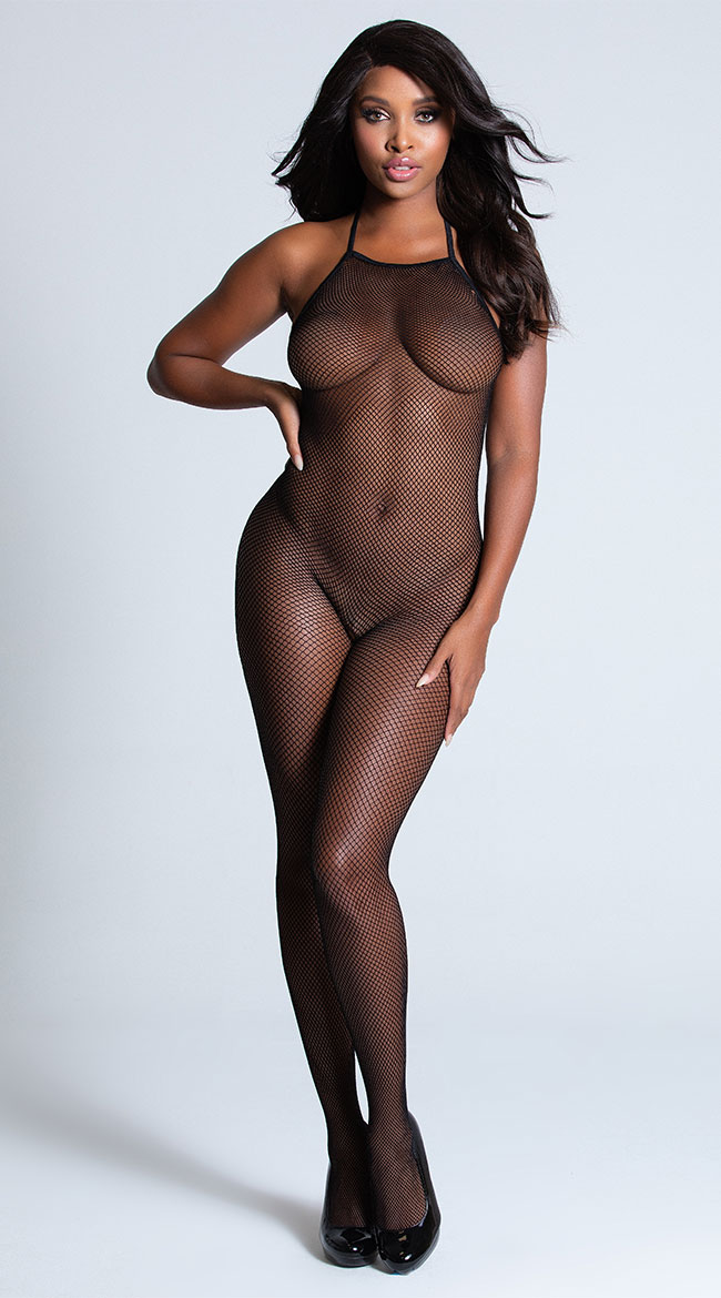 Backless Fishnet Bodystocking by Shirley of Hollywood