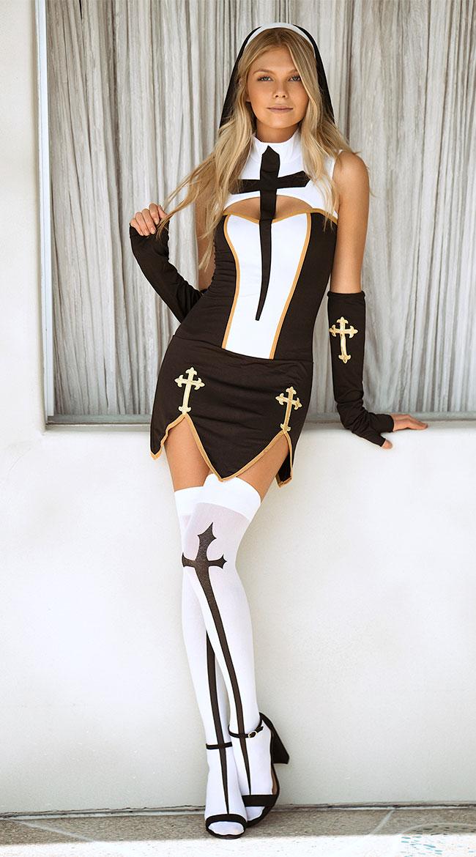 Bad Habit Nun Costume by Music Legs