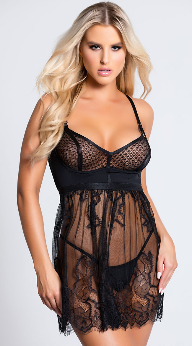 Bad Intentions Babydoll Set by Coquette