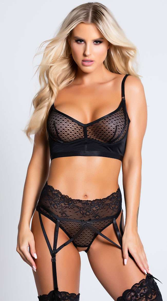 Bad Intentions Bra Set by Coquette