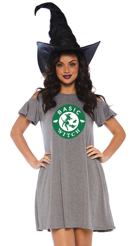 Basic Witch Jersey Dress by Leg Avenue