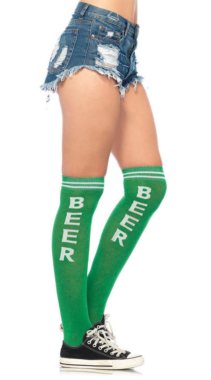 Beer Time Knee High Socks by Leg Avenue