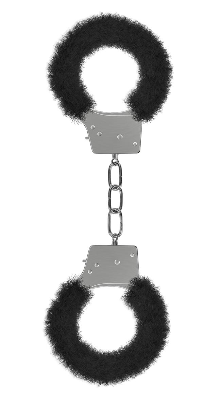 Beginner's Handcuffs Furry Black by Entrenue / Adult Handcuff