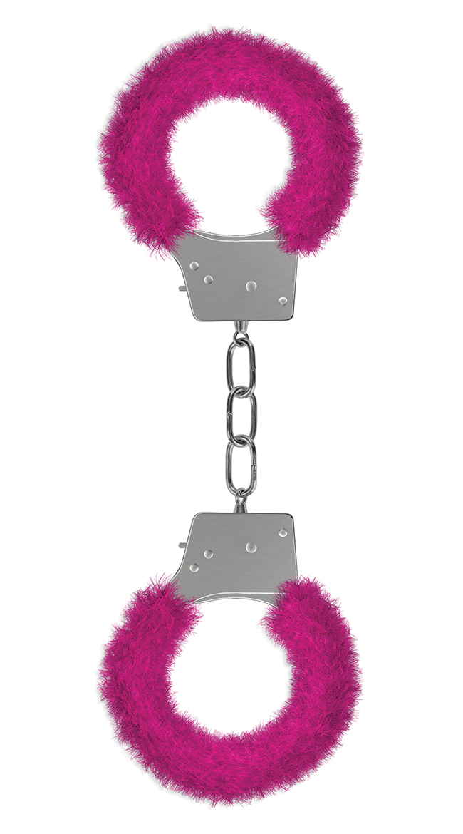 Beginner's Handcuffs Furry Pink by Entrenue / Adult Handcuff