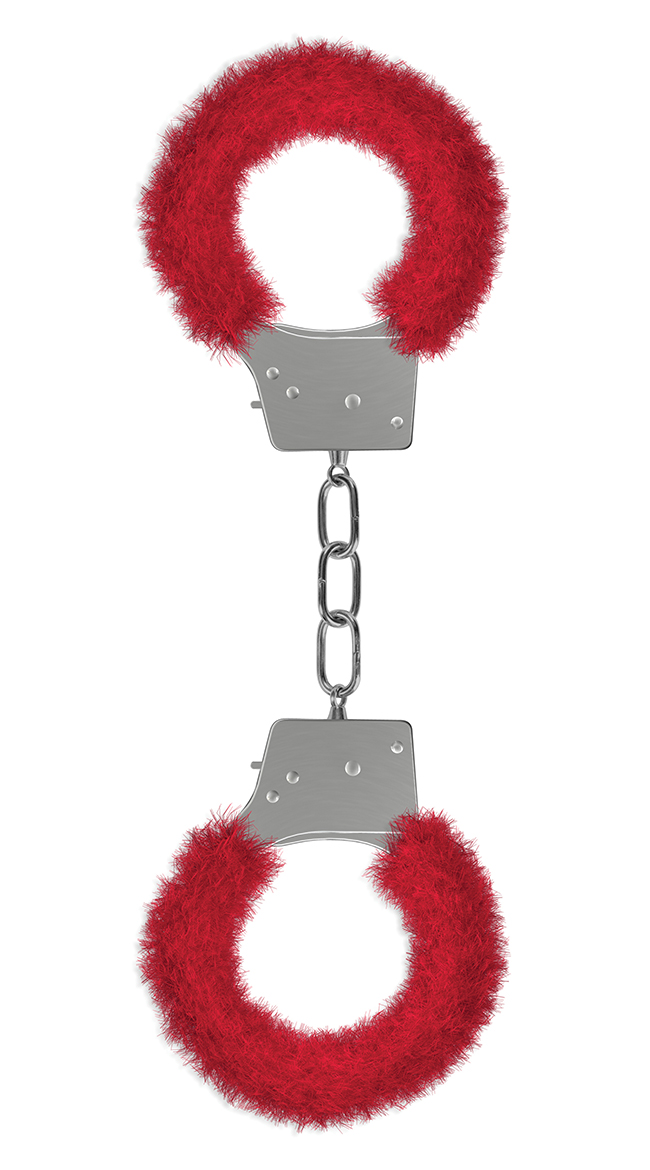 Beginner's Handcuffs Furry Red by Entrenue / Adult Handcuff