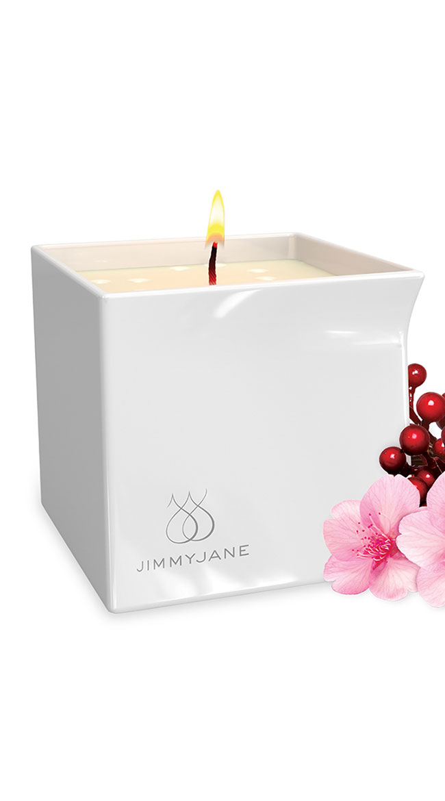 Berry Blossom Massage Oil Candle by Entrenue - sexy lingerie