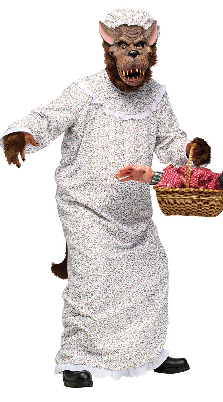 Big Bad Granny Wolf Adult Costume by Fun World