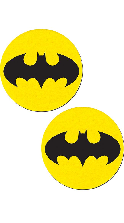 Black Bat and Yellow Circular Pasties by Pastease
