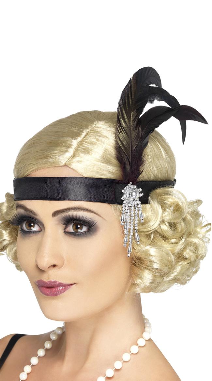 Black Charleston Headband by Fever / 1920S Headpiece