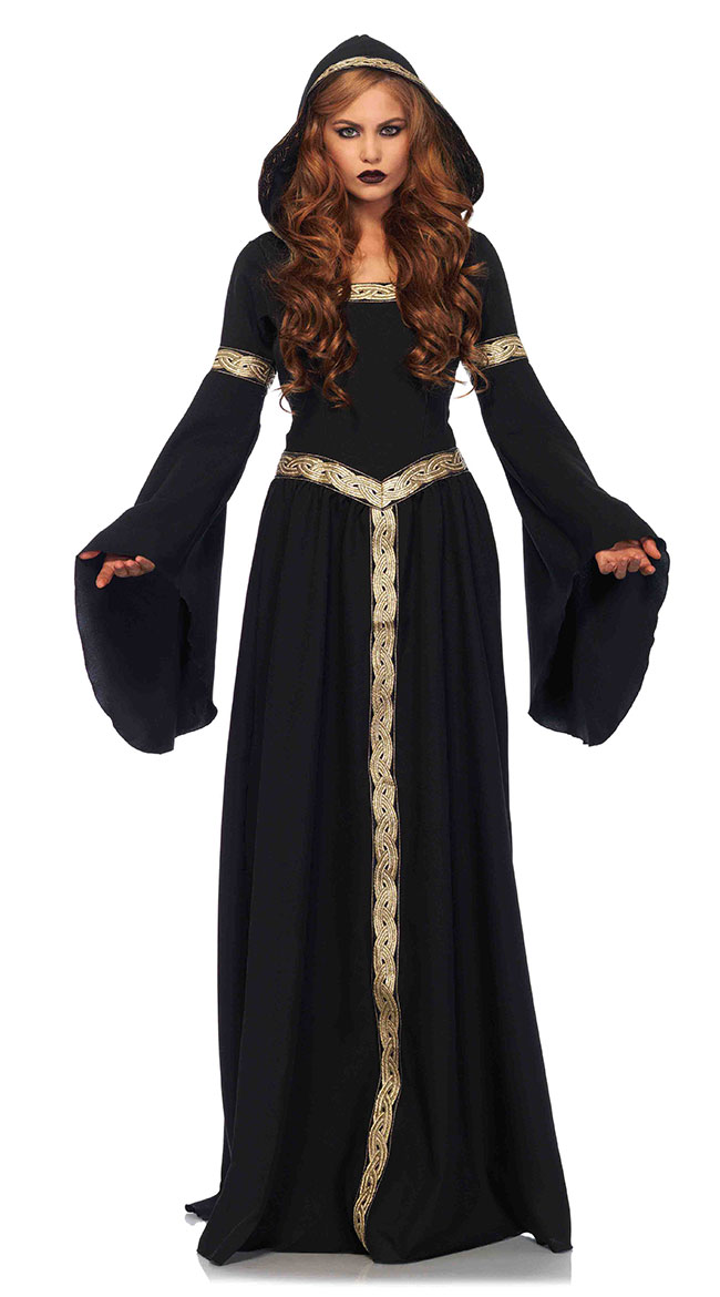 Black Pagan Witch Costume by Leg Avenue