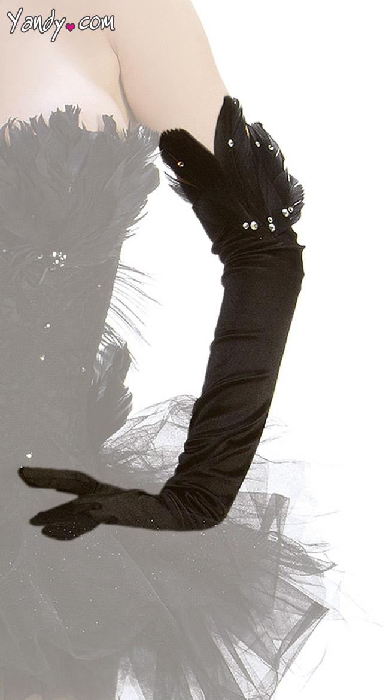Black Swan Gloves by Starline / Long Gloves