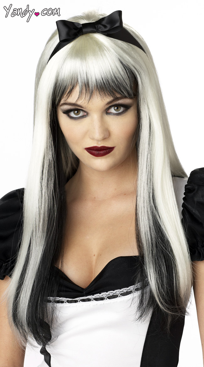 Black and White Enchanted Tresses Wig by California Costumes