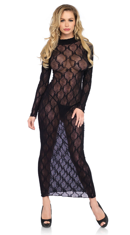 Bow Lace Long Sleeve Dress by Leg Avenue