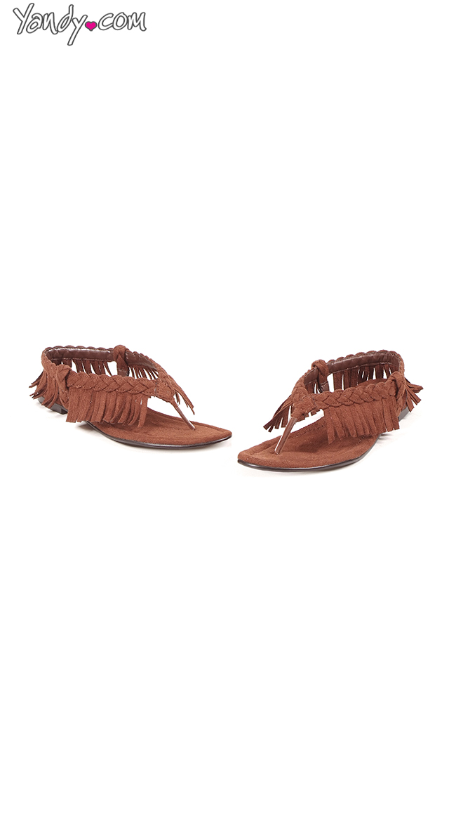 Braided Fringed Tassel Flats by Ellie Shoes