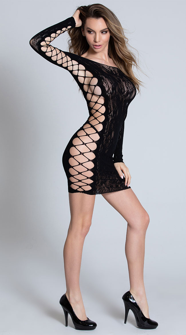 Call Me Later Lace Chemise by Glitter