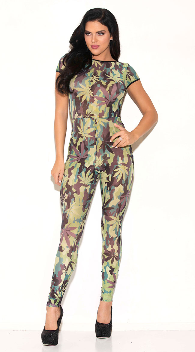 Camo Weed Jumpsuit by Glitter