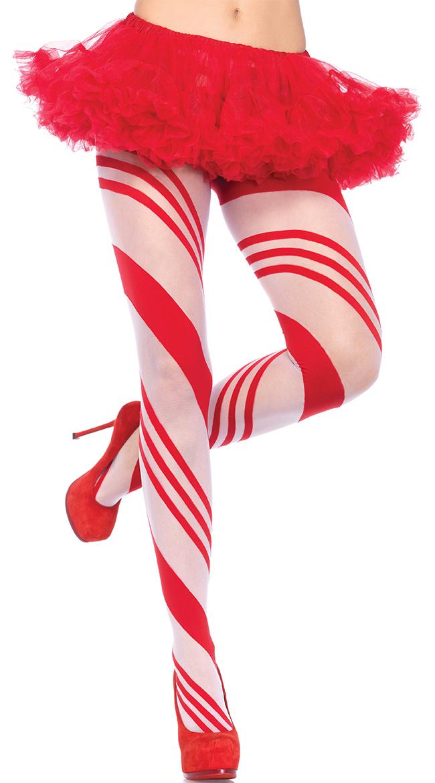 Candy Cane Pantyhose by Leg Avenue