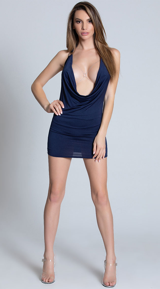 Can't Be Tamed Navy Mini Dress by Roma