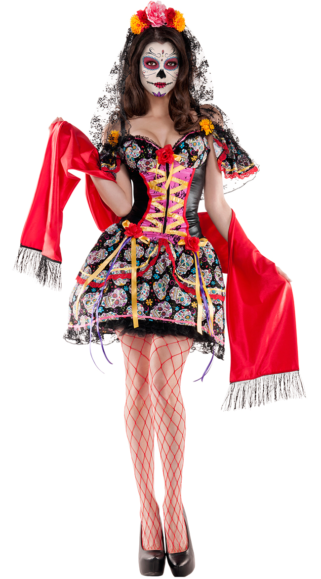 Catrina De Muerto Shaper Costume by Party King