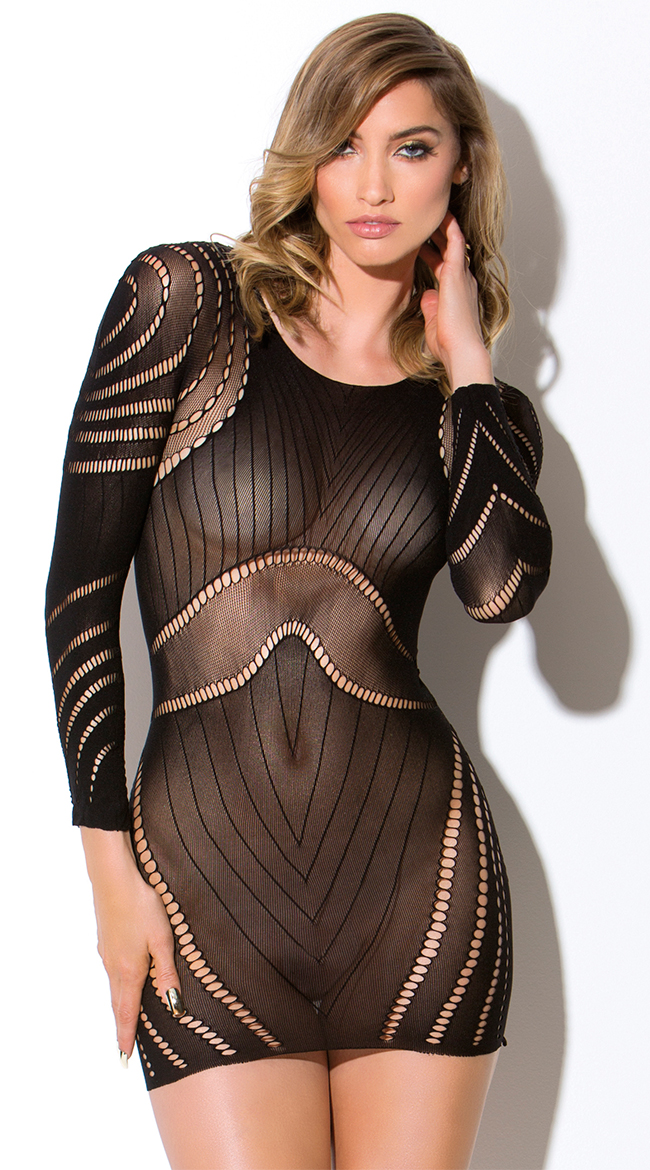 Circular Netted Long Sleeve Chemise by Hauty